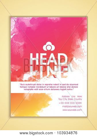 Creative stylish Business Flyer, Banner or Template with colorful splash.