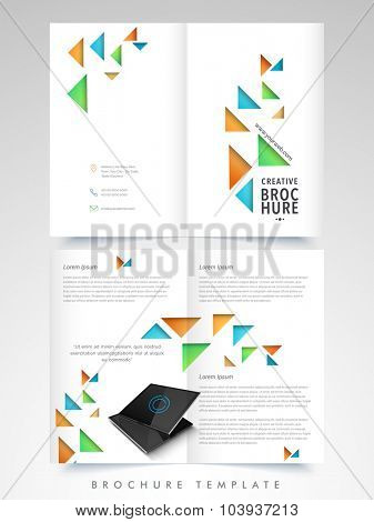 Abstract glossy Brochure, Template or Flyer presentation for your Business or Corporate Sector.