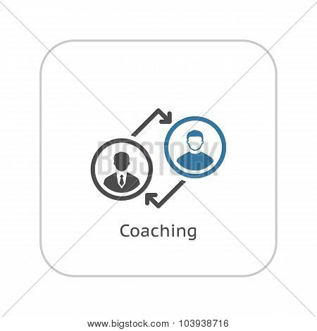 Coaching Icon. Business Concept. Flat Design.