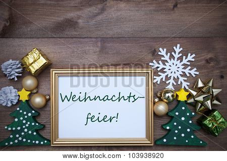 Frame With Decoration, Weihnachtsfeier Mean Christmas Party
