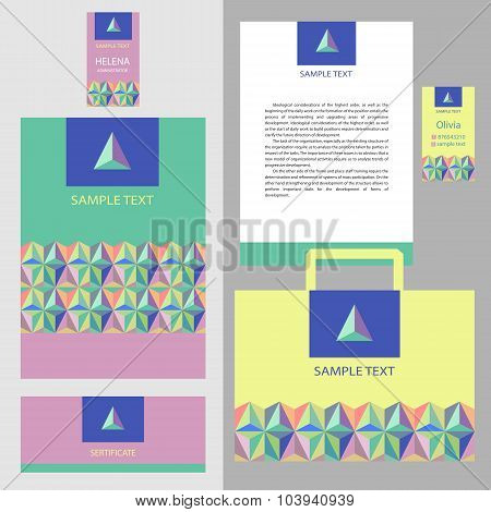 Vector template logo and corporate identity.