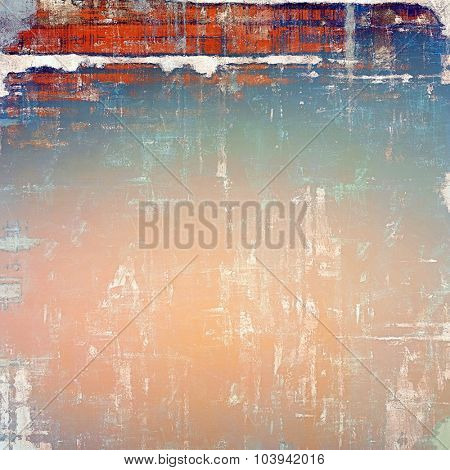 Vintage old texture for background. With different color patterns: yellow (beige); blue; red (orange); pink
