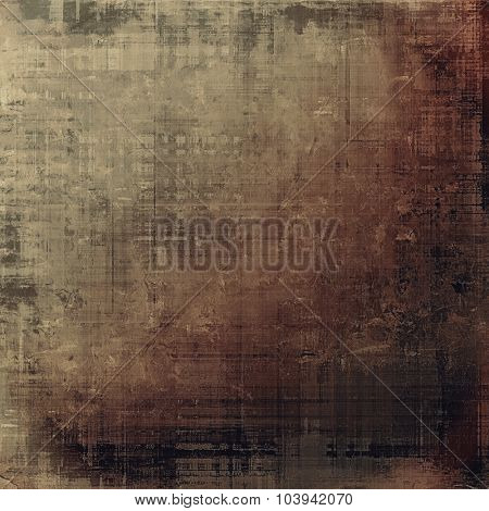 Grunge background with vintage and retro design elements. With different color patterns: yellow (beige); brown; black; gray