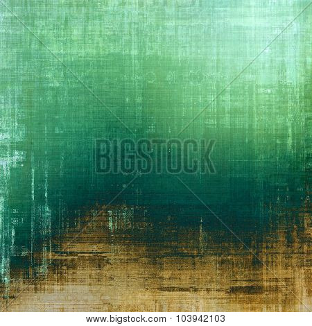 Retro background with grunge texture. With different color patterns: yellow (beige); brown; green; cyan