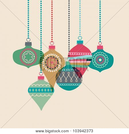 Christmas baubles, eps10 vector