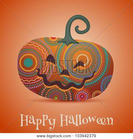 Halloween greeting card with pumkin, eps01 vector