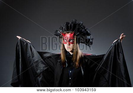 Funny deveil in halloween concept