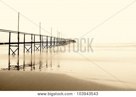 Footbridge In The Ocean