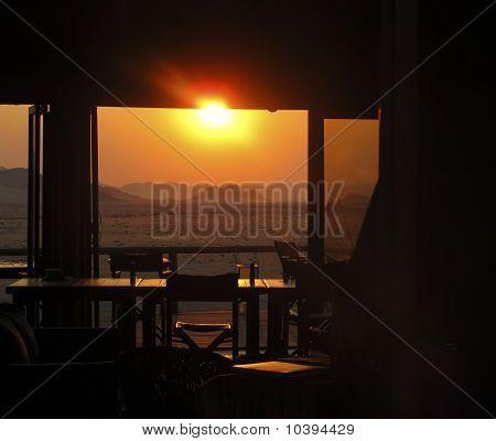 Sunset over the Namib-Nauktuft National Park Namibia