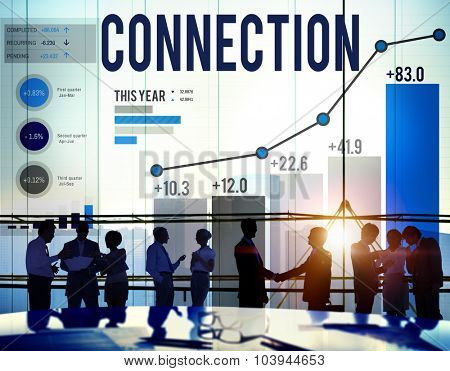 Networking Connection Global Communication Link Concept
