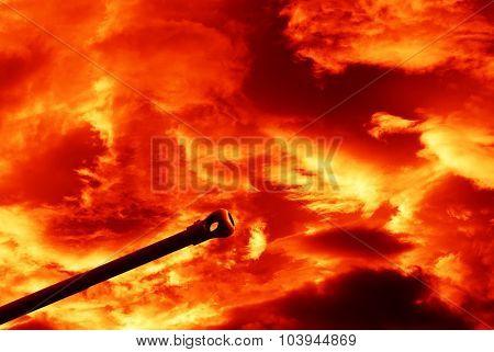 Gun Under Red Sky