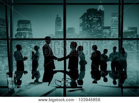 Businessmen Handshake Deal Business Partnership Concept
