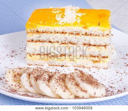 Banana Cake And Banana Slices