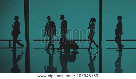 Business People Travel Passenger Walking Concept