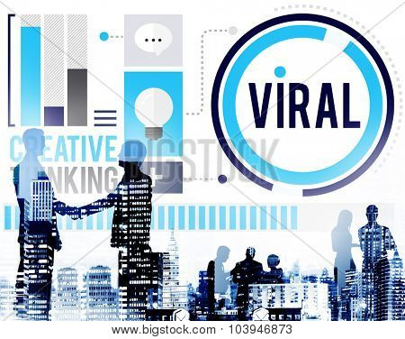 Viral Technology Global Communication Sharing Concept