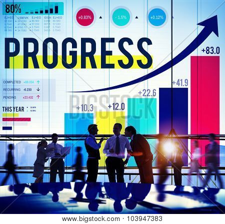 Progress Improvement Development Success Growth Concept