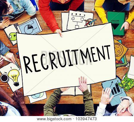 Recruitment Employment Hiring Human Resource Concept