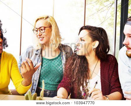 Diversity Friends Team Brainstorming Community Concept