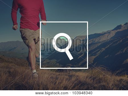 Analysis Magnifying Glass Searching Browse Concept