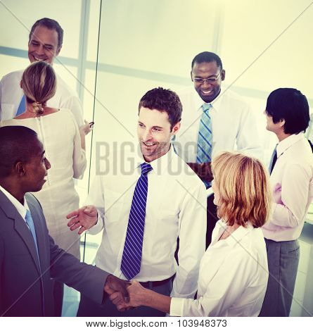 Group of Business People Working Office Meeting Concept