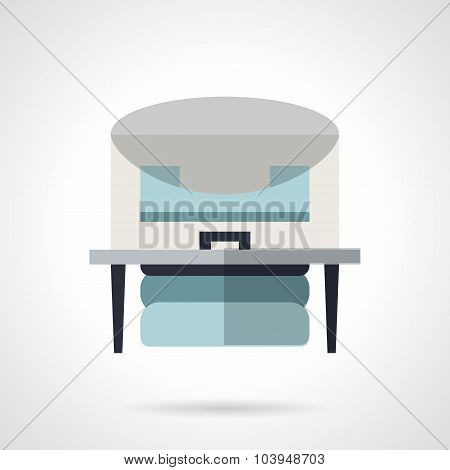 Flat color x-ray machine vector icon