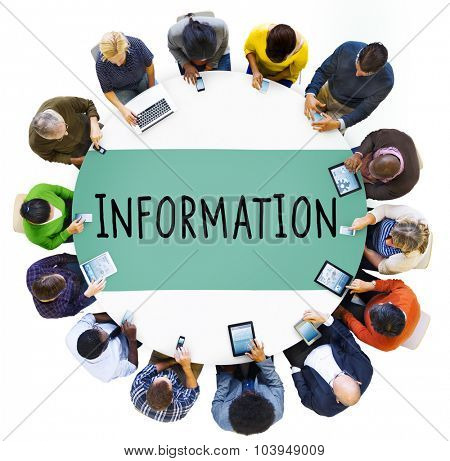 Information Info Media Research Sharing Concept