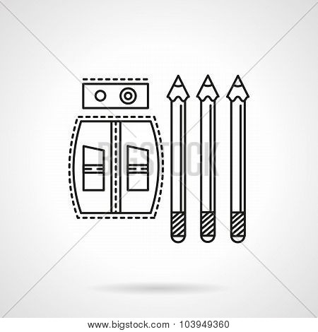 Drawing tools flat line vector icon