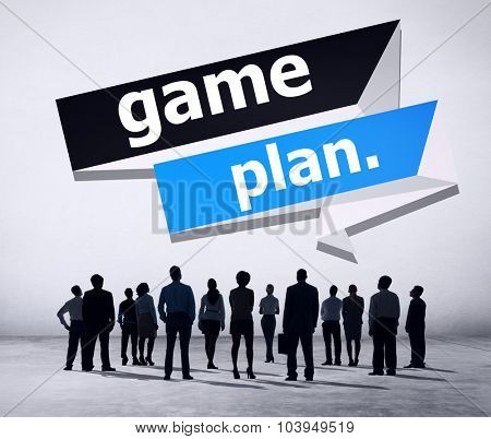 Game Plan Planning Strategy Direction Goal Solution Concept