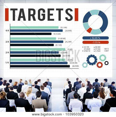 Target Achievement Goal Success Aspiration Concept