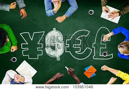 Finance Money Currency Learning Studying Education Brainstorming Concept