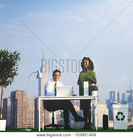 Green Business People Ecology Environmental Conservation Concept