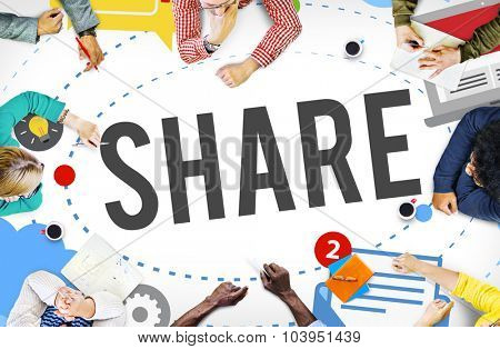 Share Post Media Trending Social Media Concept