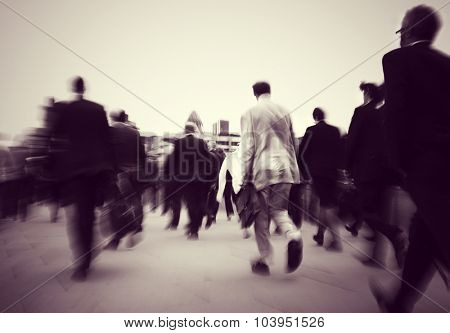 Business People Commuter Cityscape Rush Hour Concept