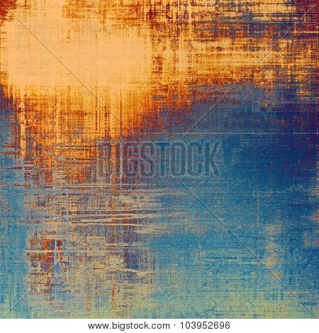 Abstract grunge background of old texture. With different color patterns: yellow (beige); brown; blue; cyan