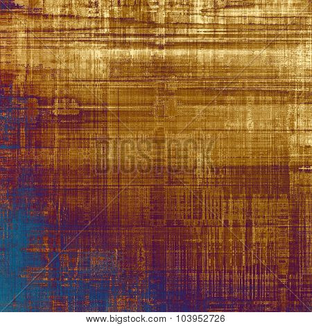 Old grunge template. With different color patterns: yellow (beige); brown; blue; purple (violet)