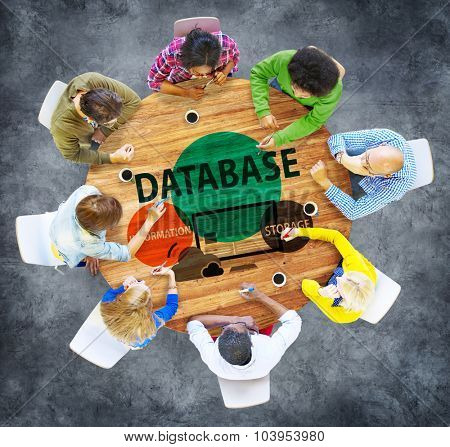 Database Online Storage Technology Concept