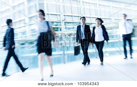 People commuting City Life Busy Pedestrian Concept