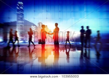 Business People Working Busy Deal Business Concept