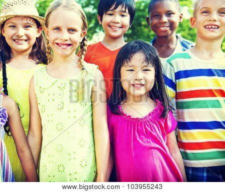 Friends Friendship Happiness Children Child Childhood  Concept