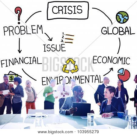 Crisis Economic Environmental Finance Global Concept