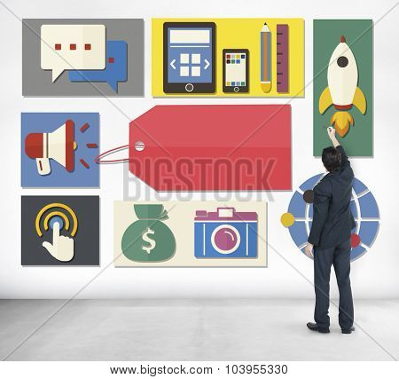 Brand Branding Advertising Commerce Marketing Concept