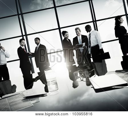 Business People Corporate Team Discussion Meeting Concept