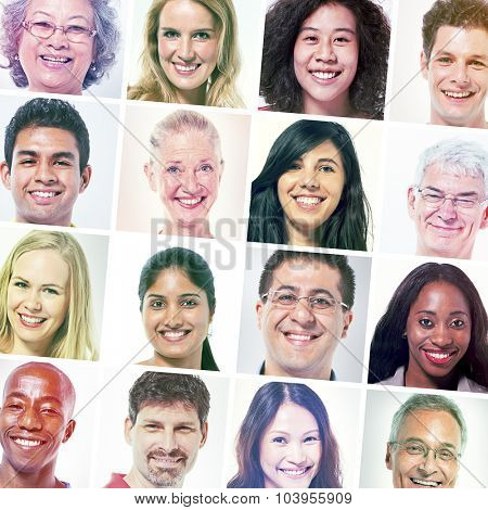Diverse People Happiness Friendship Portrait Concept
