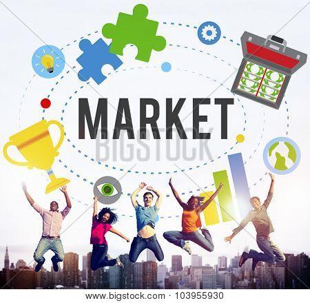 Market Plans Advertising Ideas Global Success Branding Concept