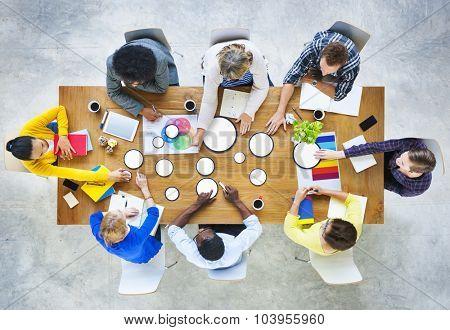 Business People Design Team Brainstorming Meeting Concept