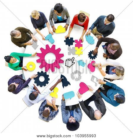 Diversity Teamwork Planning Strategy Support Technology Concept
