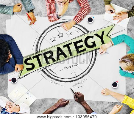 Strategy Collaboration Success Goals Growth Connection Concept