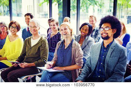 Multiethnic Group Seminar Training Boardroom Concept