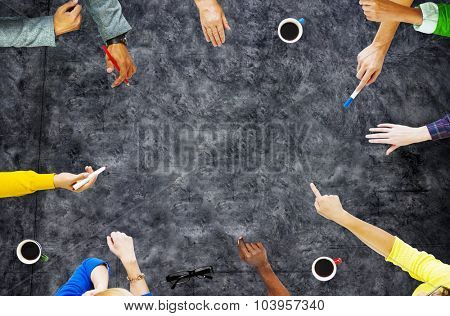 Meeting Talking Discussion Brainstorming Communication Concept