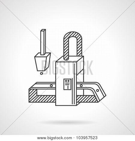 Conveyor element flat line vector icon